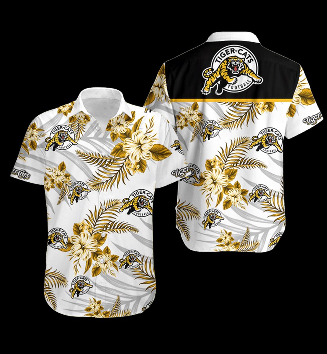 13 Hamilton Tiger Cats Hawaiian Shirt 1 1