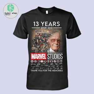 13 years 2008 2021 marvel studios thank you for the memories shirt 2