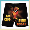 Cock I am on fire today beach short