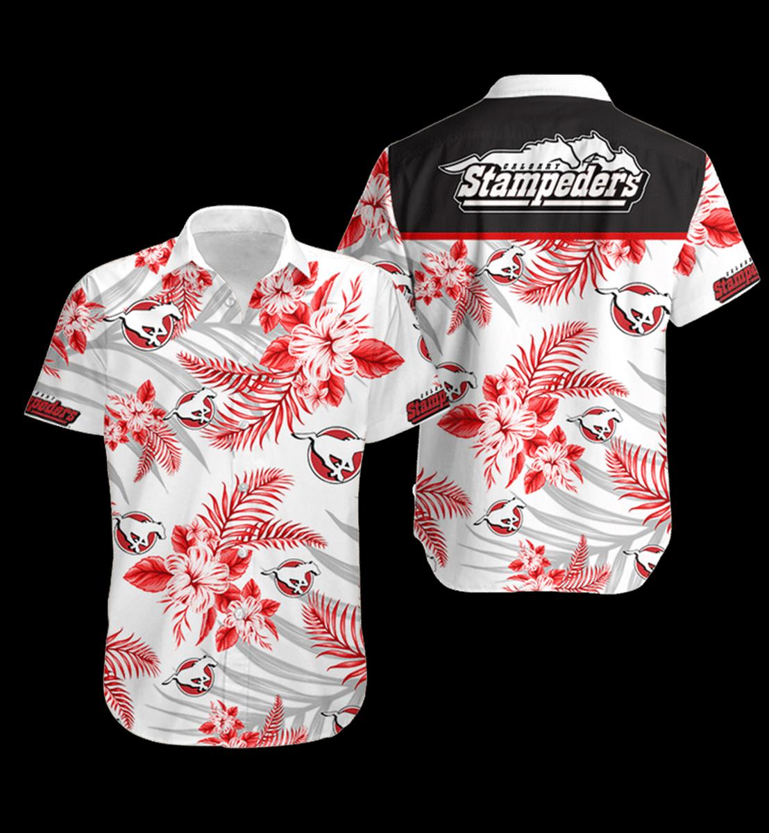 17 Calgary Stampeders Hawaiian Shirt 1 1