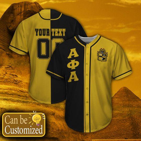 19 Alpha Phi Alpha Personalized Baseball Jersey shirt 1