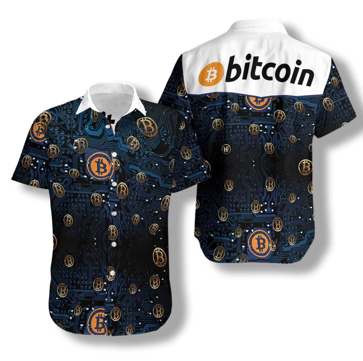 2 Bitcoin Logo Hawaiian Shirt 1 1