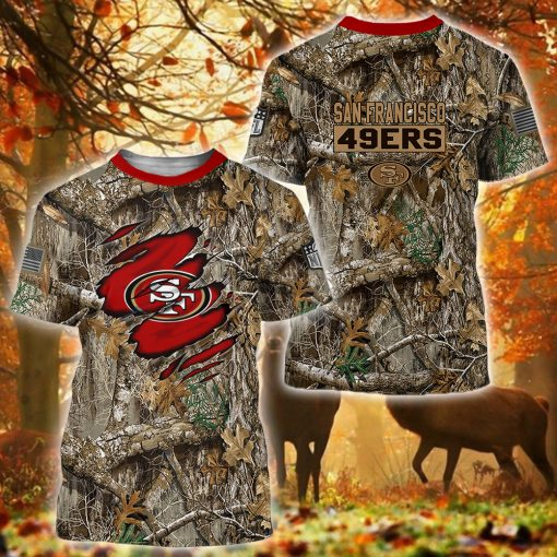 20 Deer hunting Camo San Francisco 49ers 3d over print Hoodie 3 1