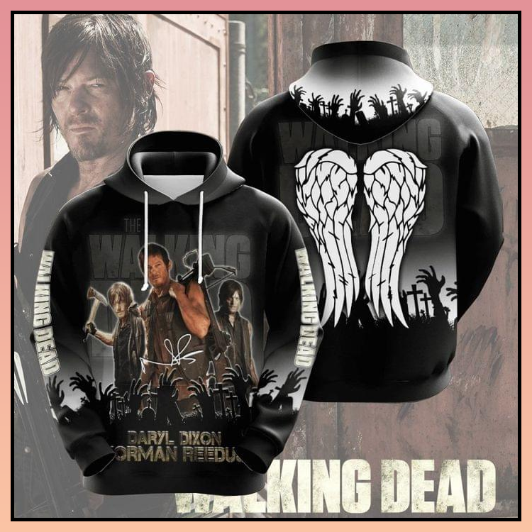 22 The walking dead daryl norman reedus all over print 3d hoodie 2 1