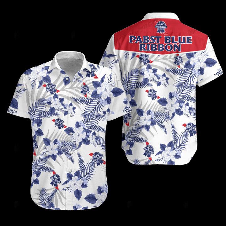 27 Pabst Blue Ribbon hawaiian shirt and Short 1 1