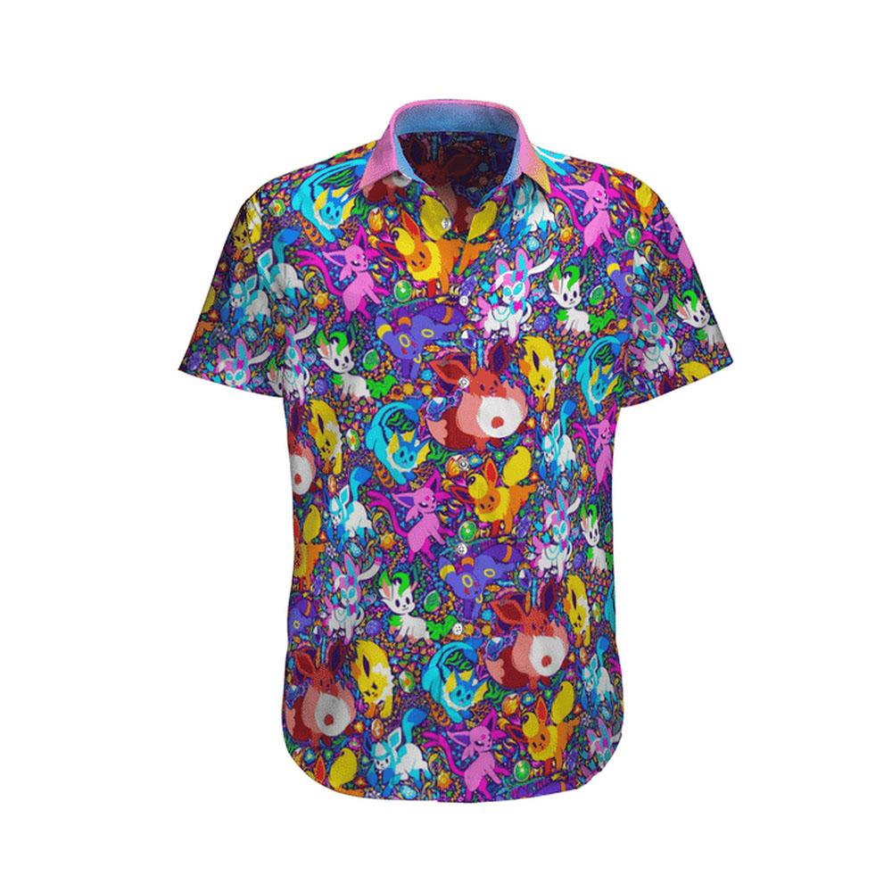28 Pokemon eevee hawaiian shirt 1 1