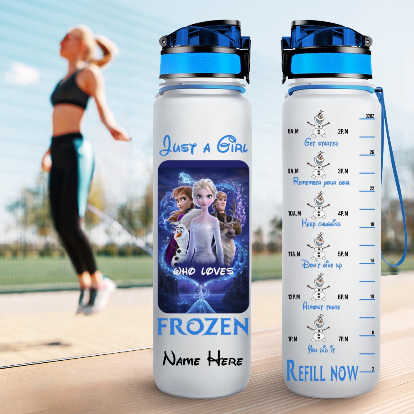 3 Just a girl who loves frozen water tracker bottle 3 2