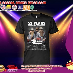 52 Years 1969 2021 Dusty Hill Frank Beard Billy Gibbons Shirt 2