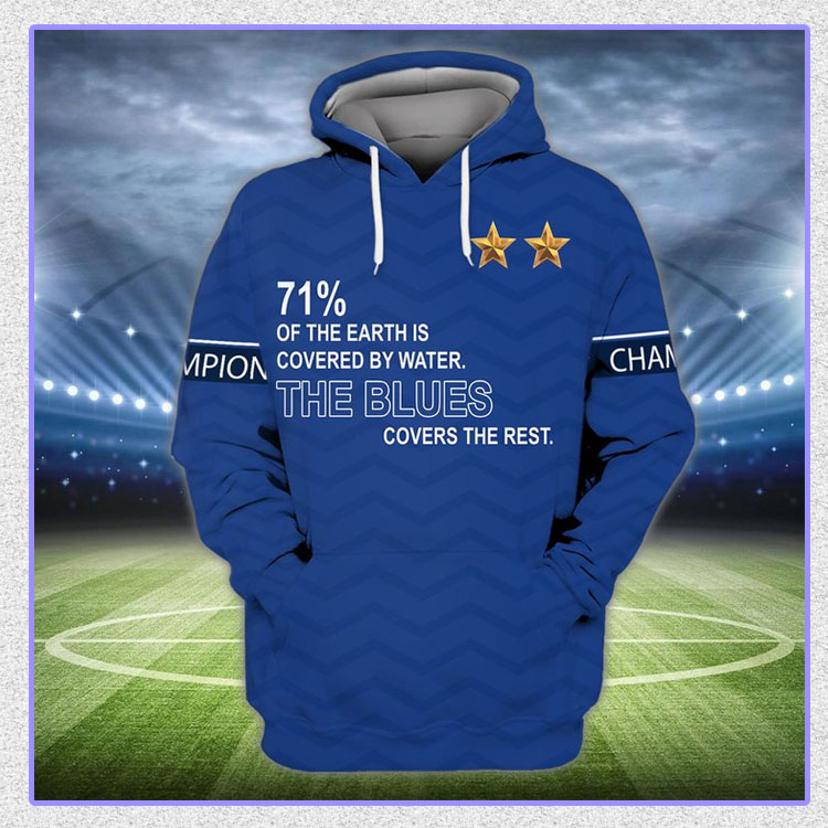 71 of the earth is covered by water The Blues covers the rest 3d hoodie and shirt6