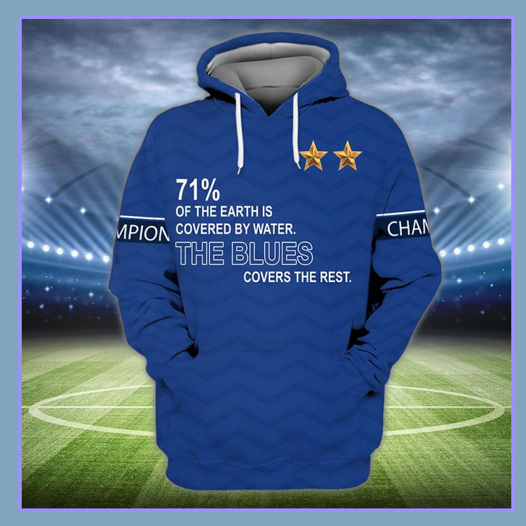 71 of the earth is covered by water The Blues covers the rest 3d hoodie and shirt7