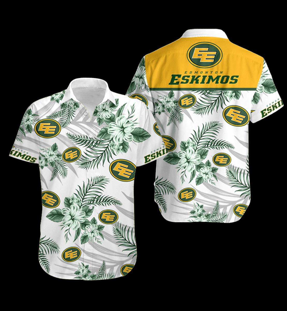 8 Edmonton Eskimos Hawaiian Shirt 1 1