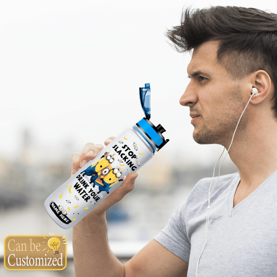 8 Minions Stop Slacking Drink your water tracker bottle 3 1