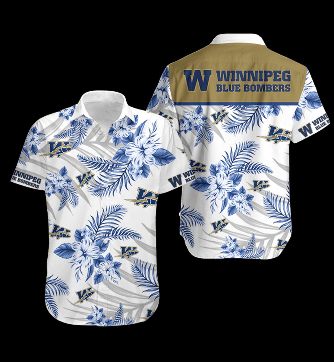 9 Winnipeg Blue Bombers Hawaiian Shirt 1 1