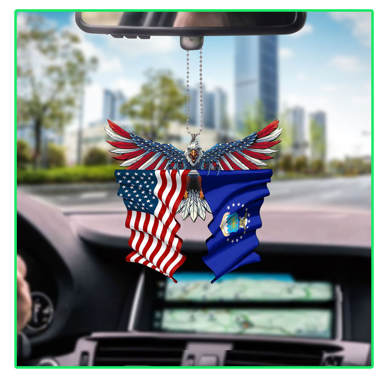 Air force United States American Eagles flag car hanging ornament7
