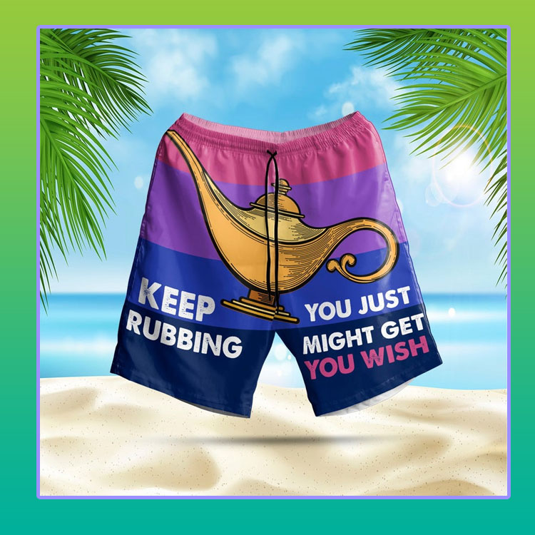 Aladin Lamp Keep rubbing you just might get you wish short pants4