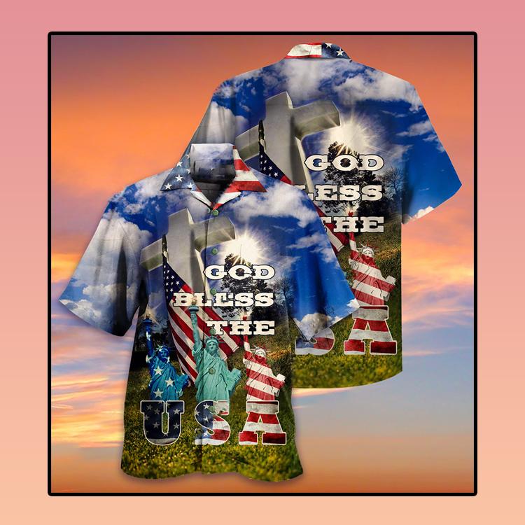 America God bless the USA Hawaiian shirt2