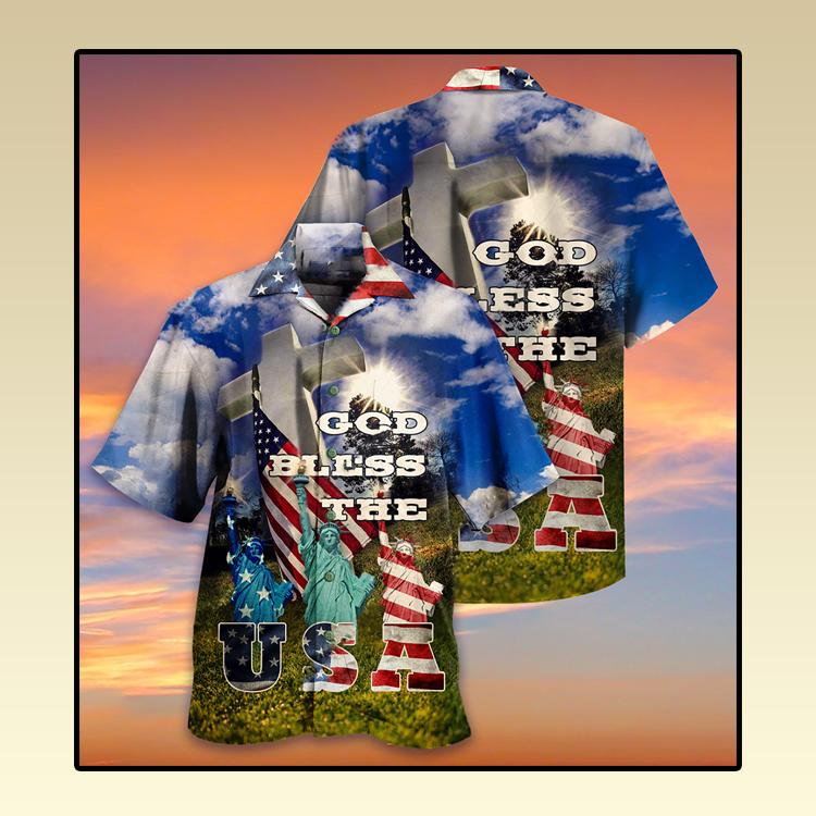 America God bless the USA Hawaiian shirt3