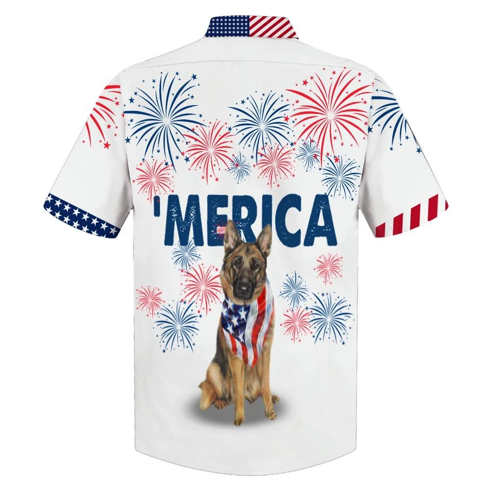 American Alsace Dog German Shepherd Hwaiian Shirt 1