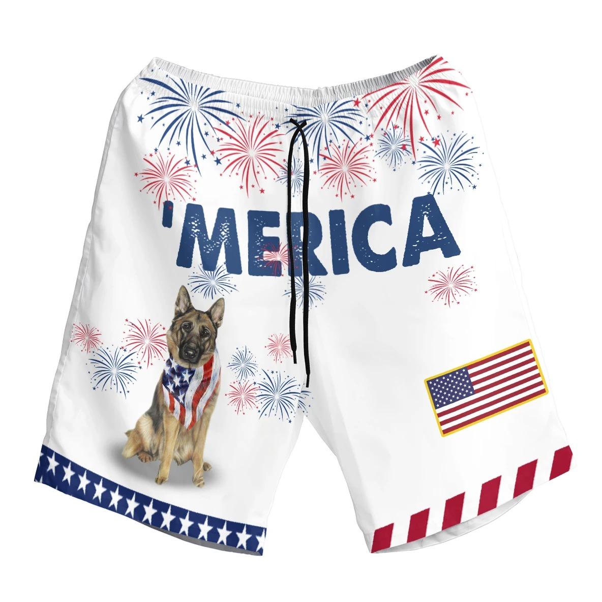American Alsace Dog German Shepherd Hwaiian Shirt And Short