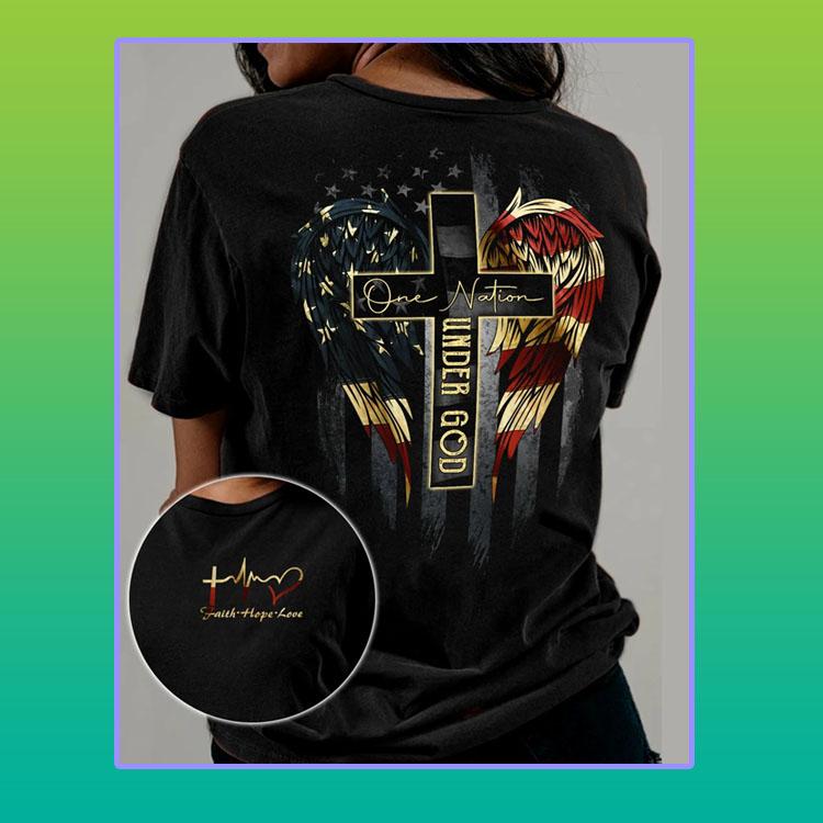 American Flag one nation under god 3D shirt4
