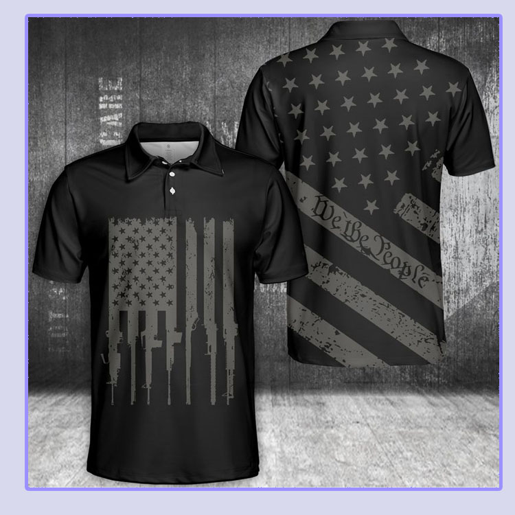 American flag we the people polo shirt4