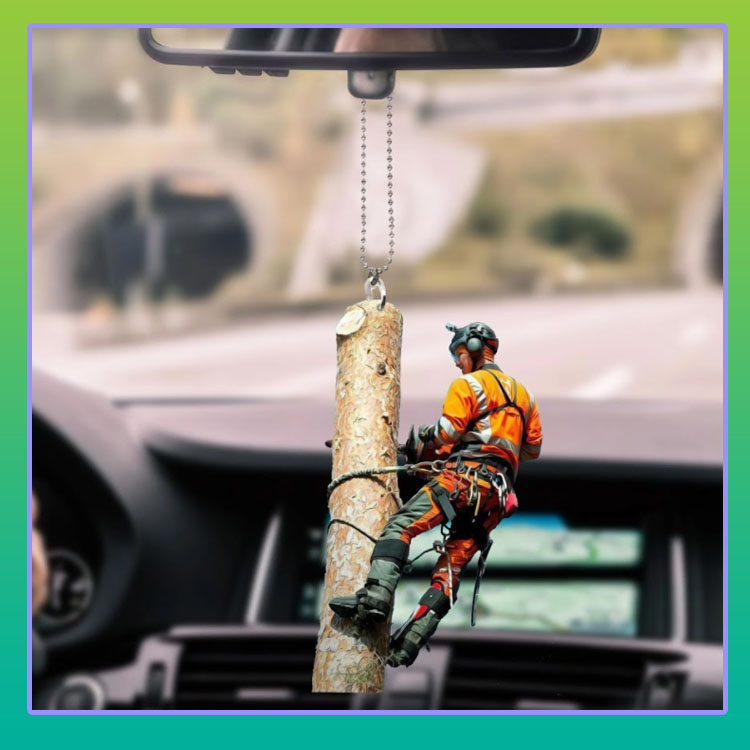 Arborist hanging car ornament