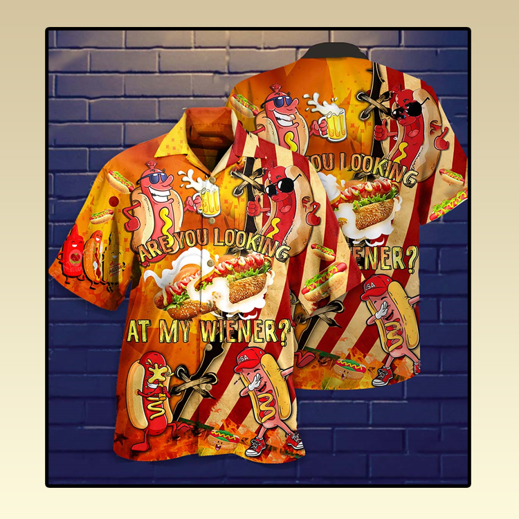 Are you looking at my wiener Hawaiian shirt2