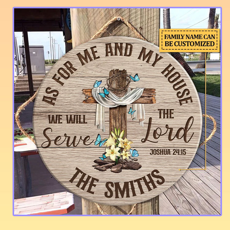 As for me and my house we will the serve lord custom name wood sign
