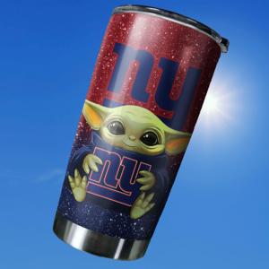 Baby Yoda Hug New York Giants 20oz Tumbler7