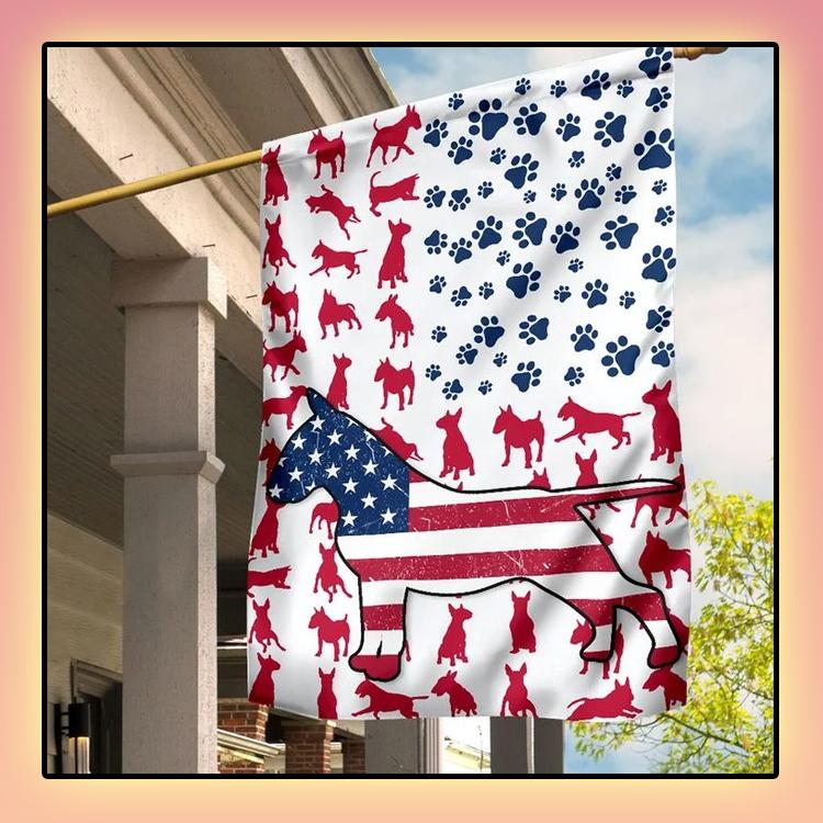 Bull Amercian house flag and garden flag2