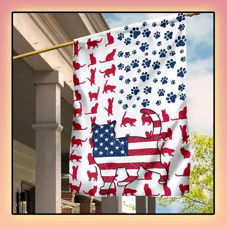 Cat Amercian house flag and garden flag and garden flag2