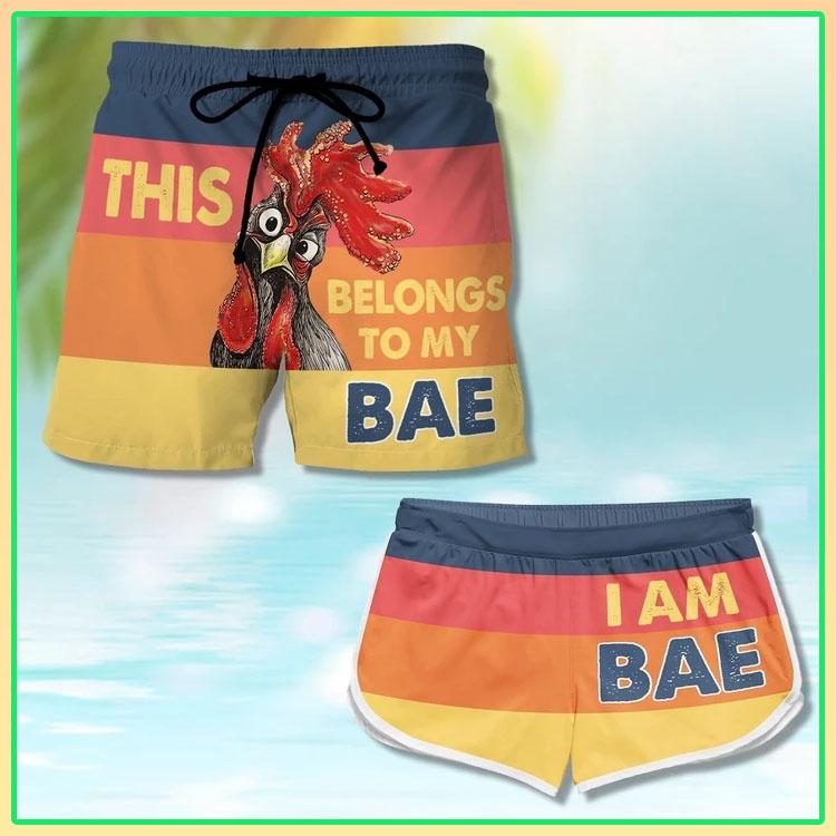 Chicken this belong to my bae Im bae couple shorts5
