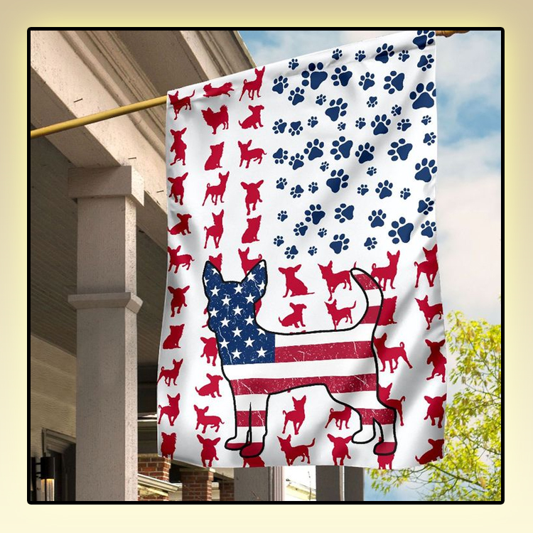 Chihuahua Amercian house flag and garden flag2