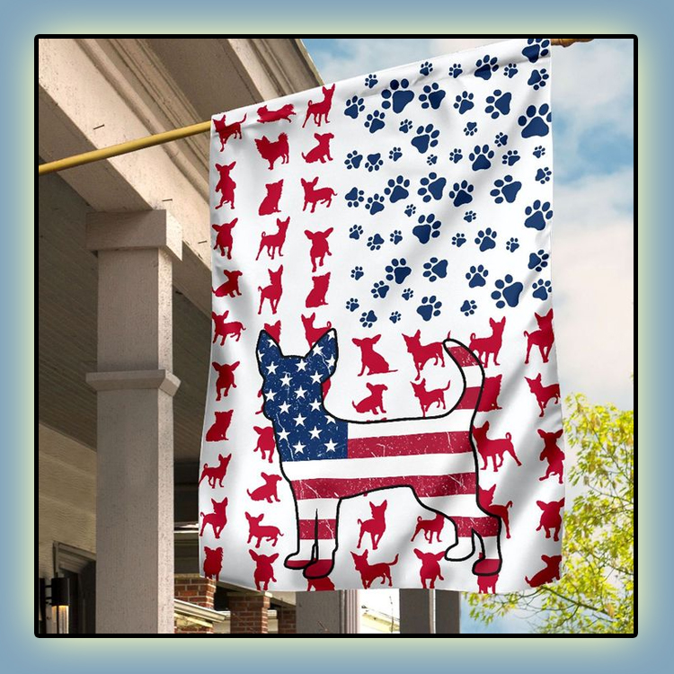 Chihuahua Amercian house flag and garden flag3