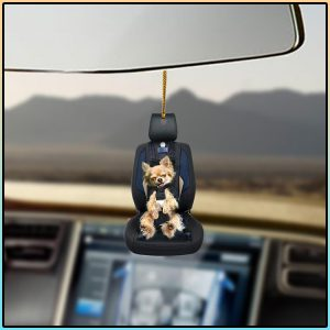 Chihuahua Car Seat Lovers Dog Moms Ornament 1