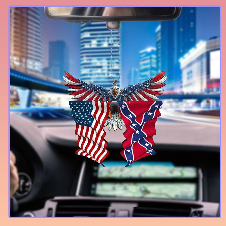 Confederate United States American Eagle flag car hanging ornament5
