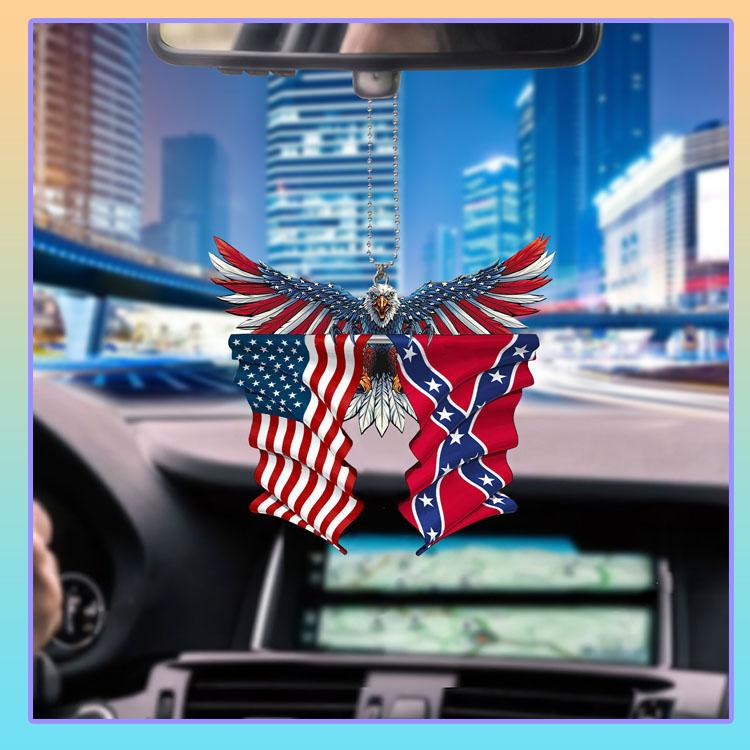 Confederate United States American Eagle flag car hanging ornament6