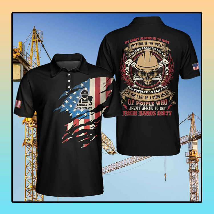 Crane Operator My Craft Allows Me To Move Anything Unisex Polo Shirt4