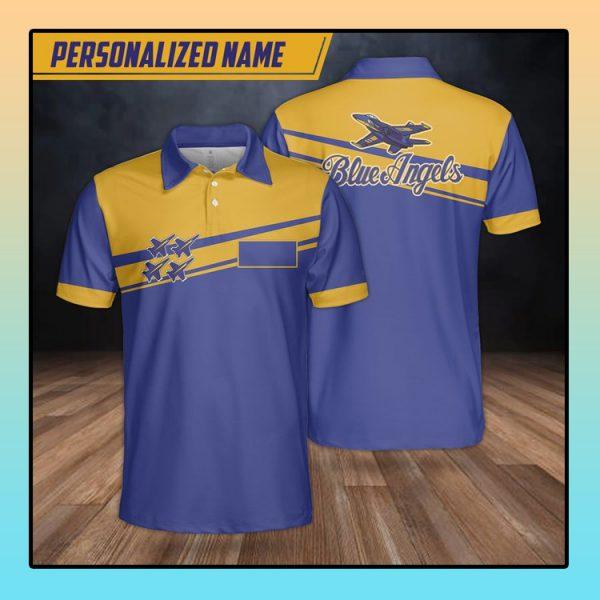 Custom Name Blue Angels Polo Shirt1