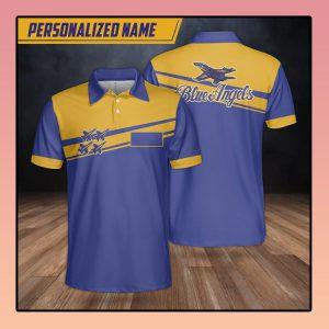 Custom Name Blue Angels Polo Shirt2