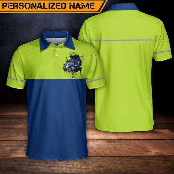 Custom Name US Waste Collector Polo Shirt