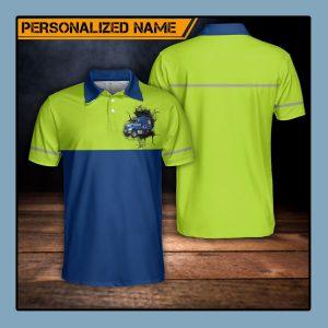 Custom Name US Waste Collector Polo Shirt1
