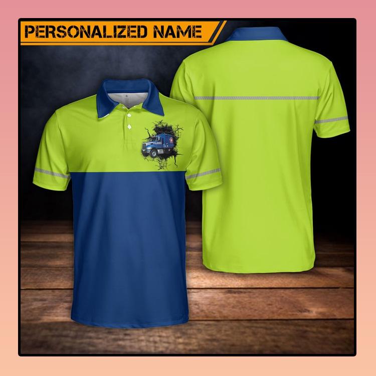 Custom Name US Waste Collector Polo Shirt3