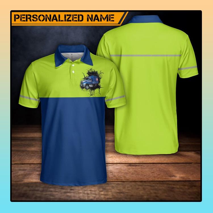 Custom Name US Waste Collector Polo Shirt4