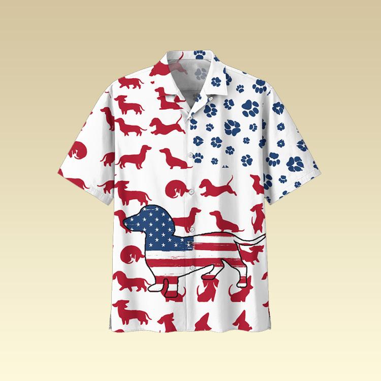 Dachshund Hawaiian shirt2