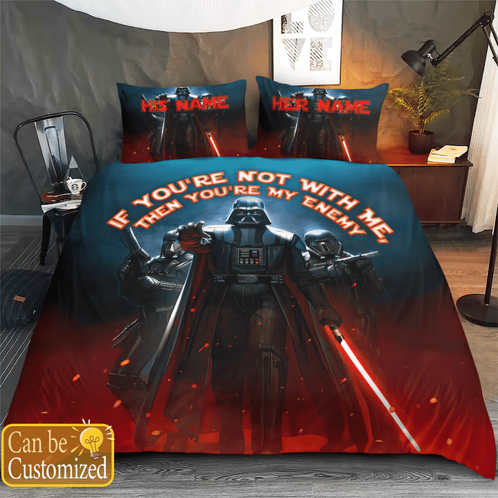 Darth Vader Youre Not With Me Then Youre My Enemy Printed Bedding Set1