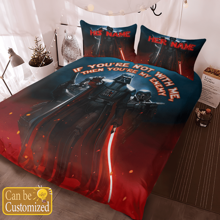 Darth Vader Youre Not With Me Then Youre My Enemy Printed Bedding Set3
