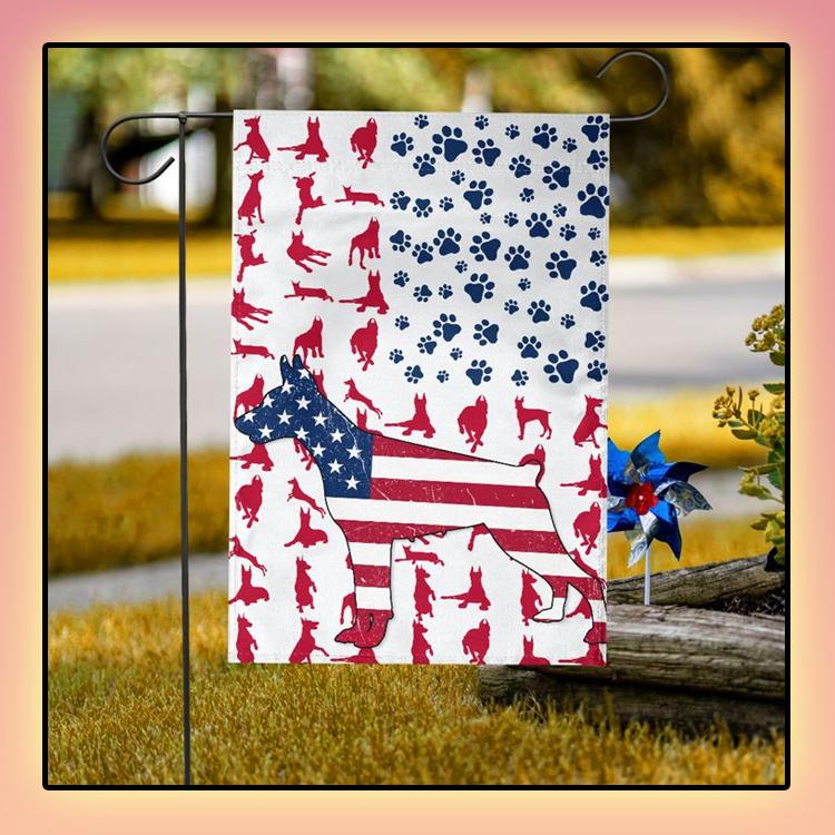 Doberman American house flag and garden flag1