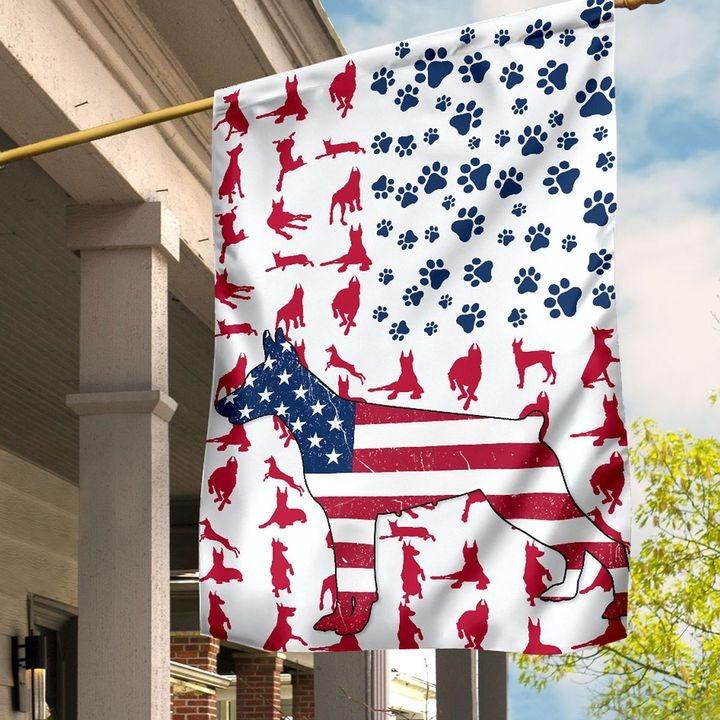 Doberman American house flag and garden flag3