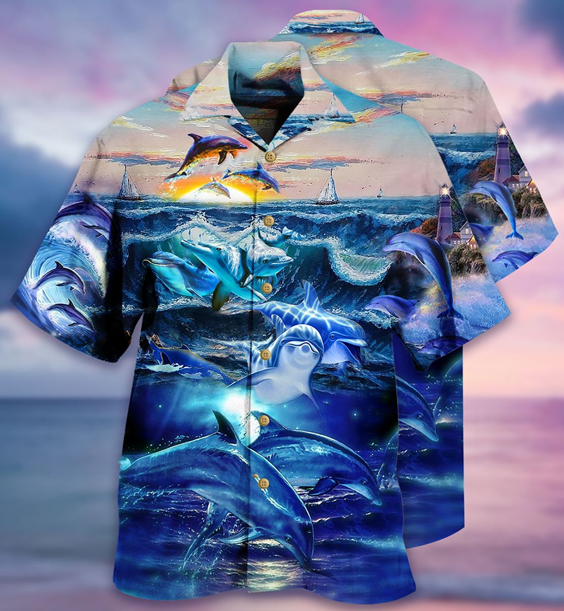 Dolphin ocean Hawaiian shirt